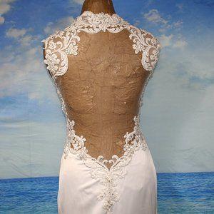 DEMETRIOS Sheer Back Elegant Bridal Wedding Gown